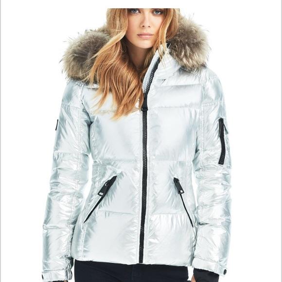 cc9c6e7ffecb7 Blake silver foil puffer coat